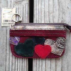 Lucky Brand keychain coin purse